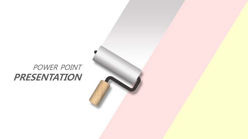 paint roller concept free ppt template design 20190411 File No31