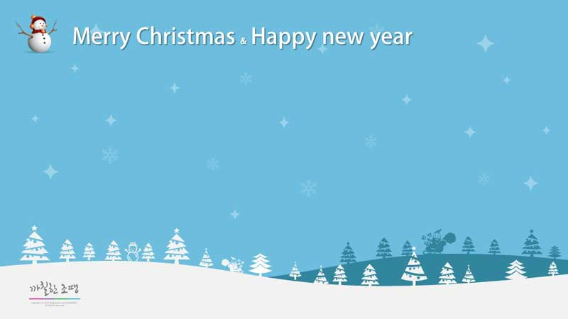 Free Christmas ppt Background theme