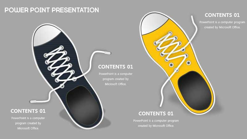 Converse shoes ppt design free template