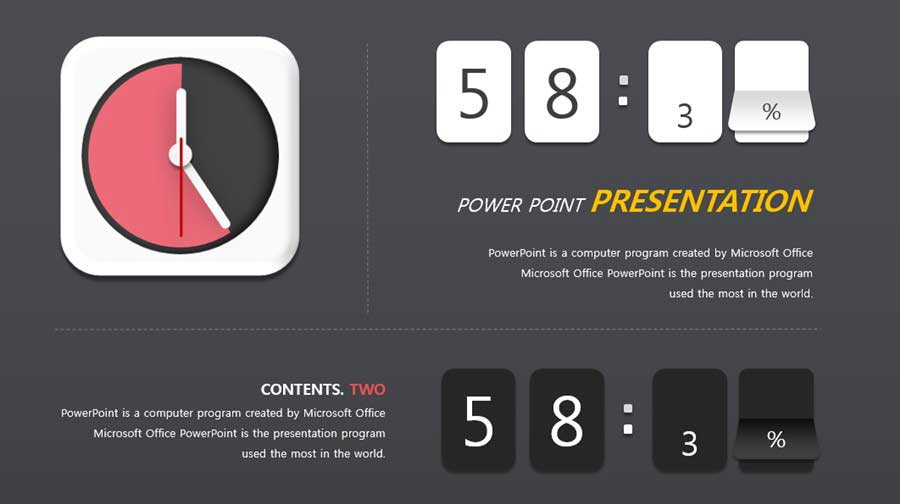 Flip Clock ppt Infographic Design free template