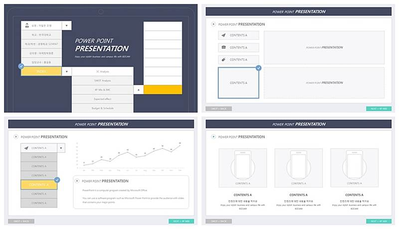 Design ppt template Select Box theme