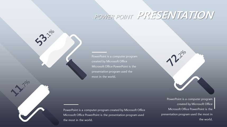 Paint Roller, Transparency Data PowerPoint Diagram Template Source