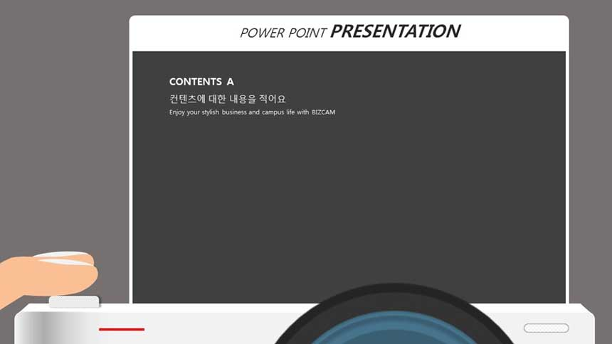 Camera LCD information window concept powerpoint background