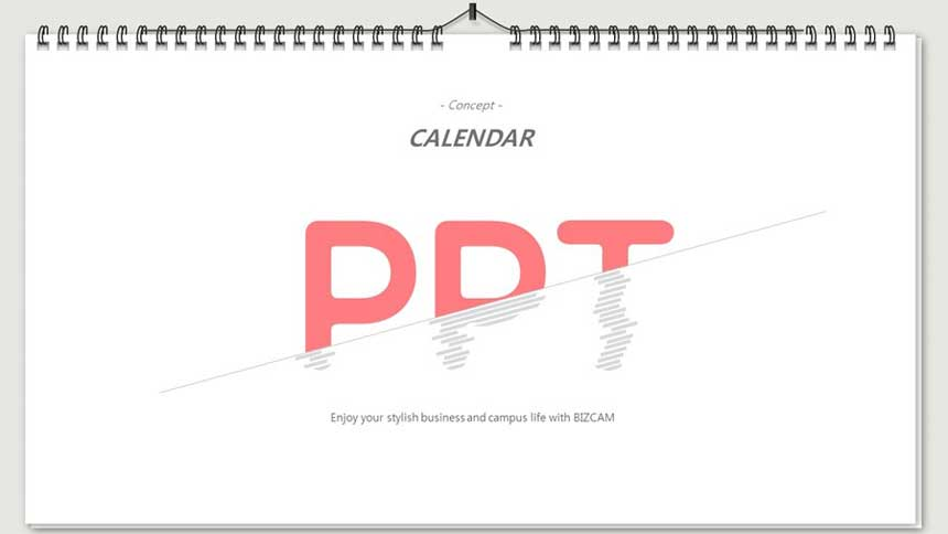 Calendar, exercise book, spring paper ppt background template