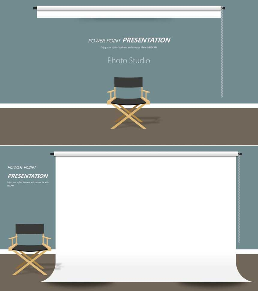 Studio Screen ppt Background Style Template